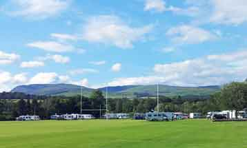 SAMCS Motorhome rally at Crieff rugby club